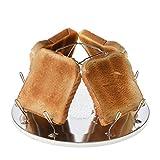 Campingtoaster Justcamp Golden, 4 Scheiben Toast, Toaster Aufsatz für Gaskocher, Campingkocher,...