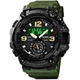 Men's Digital Watch Outdoor Sports Watches Big Face Chronograph Military Shock Watch for Men