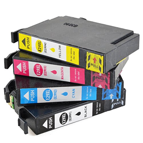 4x printer cartridges VKD voor Epson PK 29 XL Expression Home XP 235 XP 245 XP247 XP342 XP345 XP 432 XP435 XP442 XP445 NIEUW