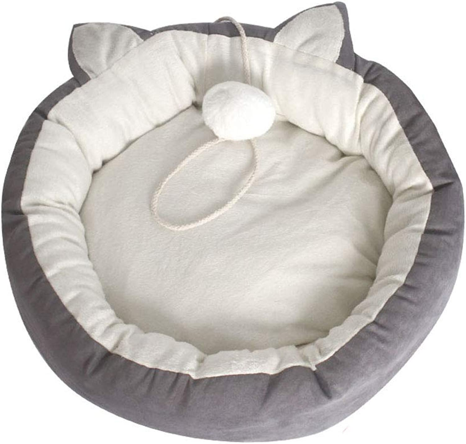 Desti Flakes Cat Ears Pet Bed Cat Nest Small Pet Mat Warm Winter Kennel Four Seasons Universal Washable Cat Supplies (Size   Small)
