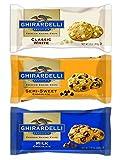 Ghirardelli Chocolate Premium Baking Chips Bundle: 1 Bag Each of Semi-sweet Chocolate Chips, Milk Chocolate Chips & White Chocolate Chips