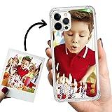 Phone Case Trends – Funda iPhone 12 Pro MAX Personalizada con tu Foto o Texto – Carcasa Personalizable Semi Rígida con Bordes Reforzados - Funda Transparente, Antigolpes y de Silicona