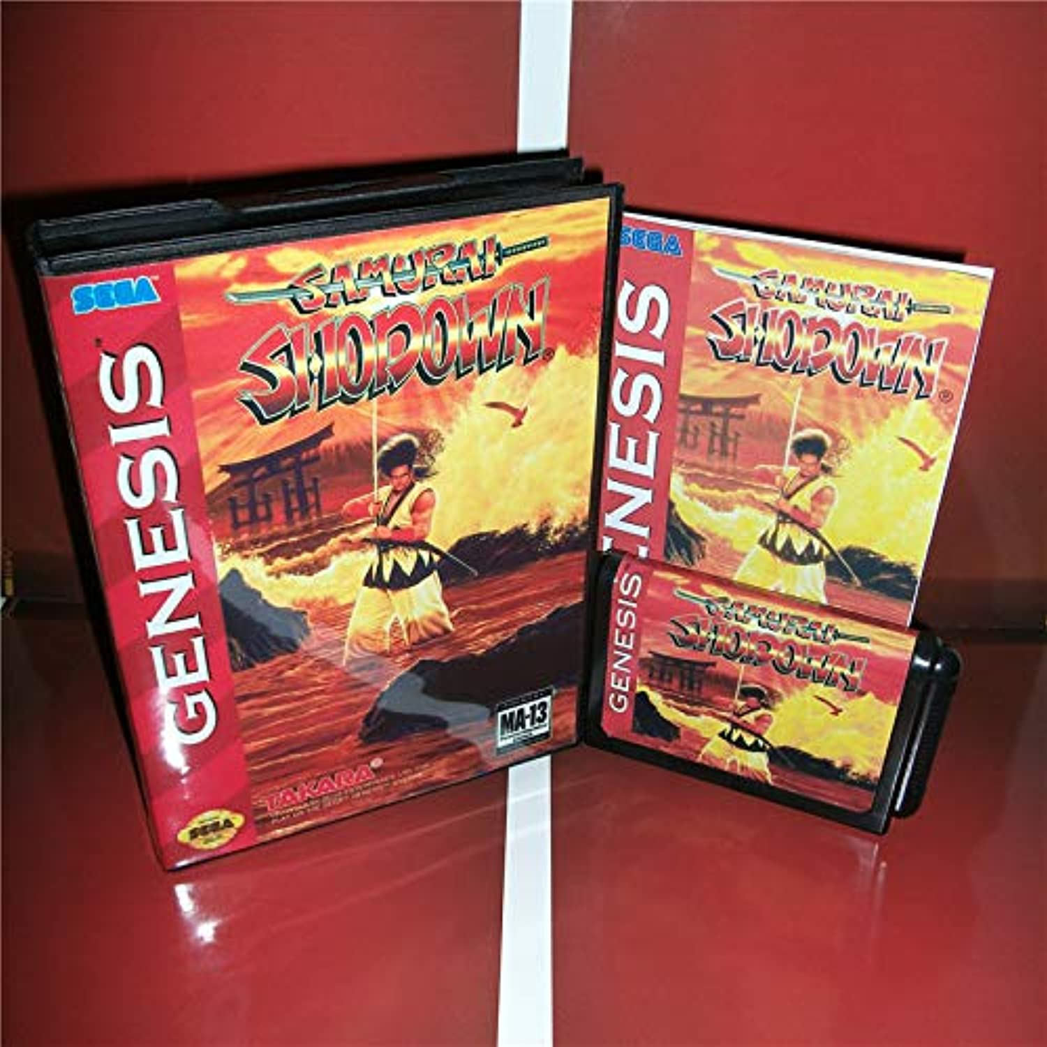 Value-Smart-ToysSamurai Shodown US Cover with Box and Manual for Sega Megadrive Genesis Video Game Console 16 bit MD Card