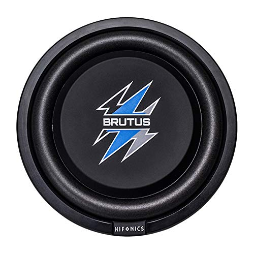 Hifonics BXS10D4 Brutus Shallow Mount Subwoofer (schwarz) - 10 Zoll Subwoofer, 400 Watt, Car Audio System, 2,5 Zoll Schwingspulen, UV Gummi Surround, Best in Sealed Enclosures - Marine Grade