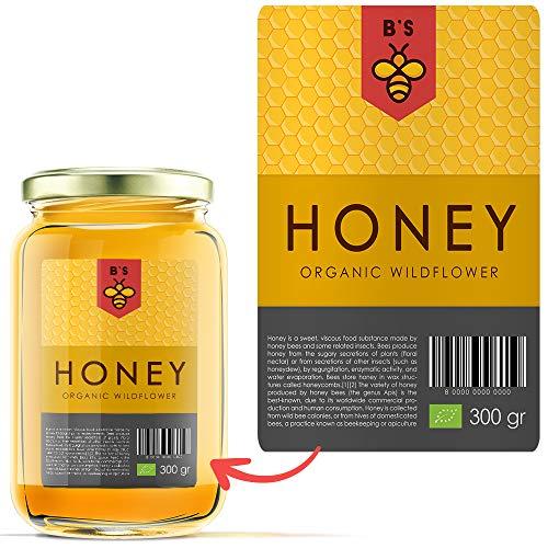 Etiquetas adhesivas personalizadas con logo. Etiquetas impresas con tu marca para envasado profesional: mermelada, cosméticos, botellas, etc.
