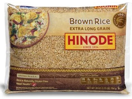 Hinode Brown Rice Extra Long Grain 28 Ounce Bag
