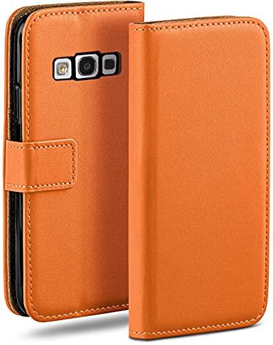 MoEx Cover a Libretto Compatibile con Samsung Galaxy S3 / S3 Neo   Fessura Carta + Soldi, Supporto, Arancione