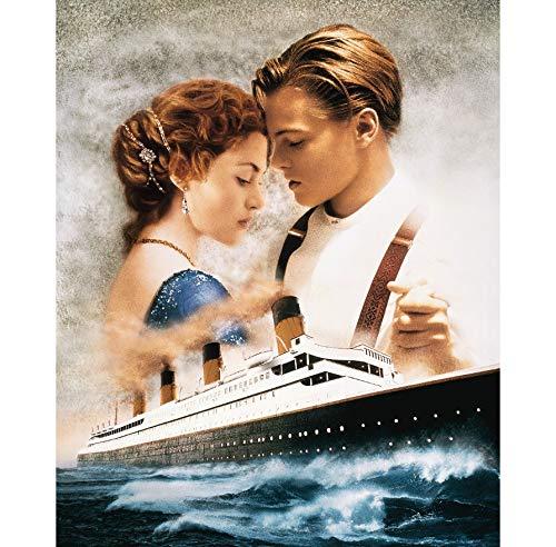 RUIYAN Leinwand Malerei Wandkunst Bild Classic Movie Titanic Poster Drucken Leinwand Malerei Geschenk Ohne Rahmen 50 * 60 cm