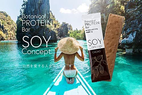 SOY Concept ボタニカルプロテインバー 植物性大豆プロテイン 砂糖,人口甘味料,香料,着色料,保存料不使用 ...