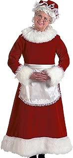 Velvet Mrs Claus - Halco Burgundy Professional Wife Costume Bundle w Santa Guide