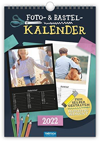 Trötsch Foto- und Bastelkalender A4 2022: selbstgestalten basteln schenken kreativ sein (Geschenkkalender)