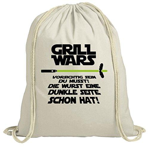 Grill natur Turnbeutel Grill Wars - Dunkle Seite, Größe: onesize,natur