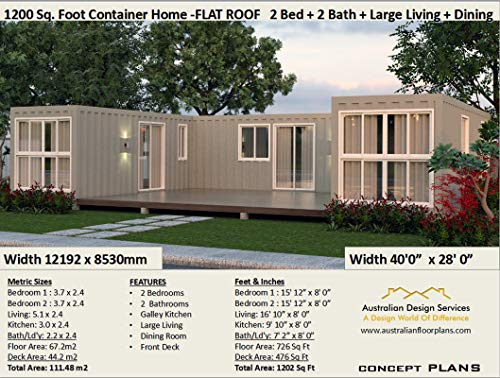 Beautiful 2 Bedroom Home Shipping Container Home Concept Plans 3