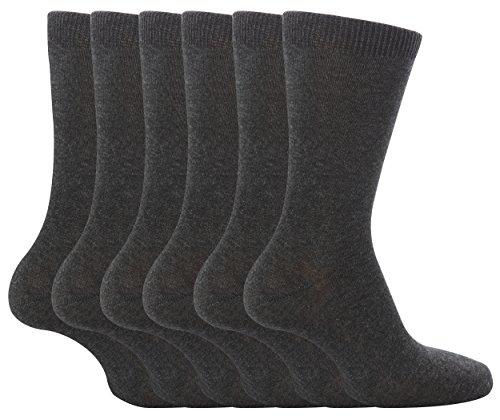 Drew BradyMädchen Socken, Einfarbig Grau Grau