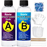 Resina Epoxi Ultra Transparente no tóxica 410g/380 ml, Proporción 1:1 para...