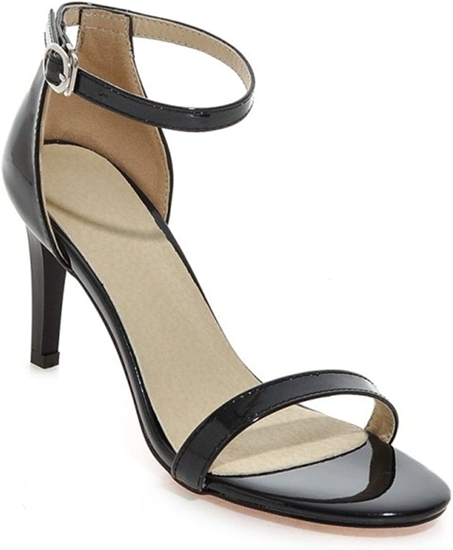 Women's shoes Leatherette Summer Stilettos Heel Comfort Sandals Open Toe for Dress Party & Evening