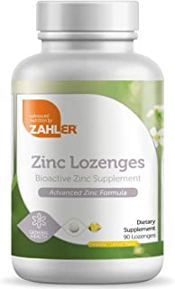 Zahler Zinc Lozenges, 35mg Chewable Zinc Tablets, Immune Support Antioxidant Supplement, Great Tasting Zinc for Kids and A...