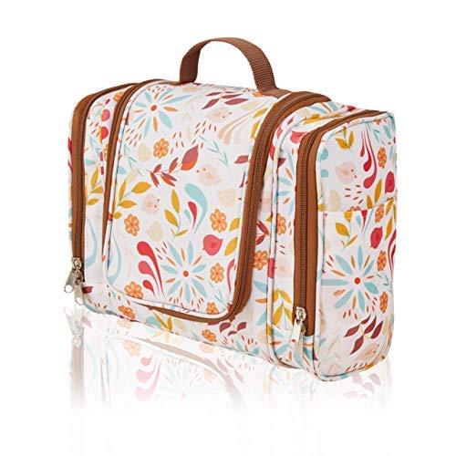 ONISM XXL Design Kulturtasche | Kulturbeutel zum aufhängen mit Haken und Henkel für Damen, Frauen und Mädchen | Kosmetiktasche aufklappbar, groß, leicht für Koffer
