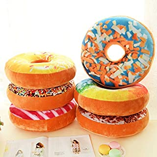 yuanchuang Seat Cushion 1pcs Sofa Decorative Cute Simulation Cushion Soft Plush Pillow Seat Pad Donut Foods