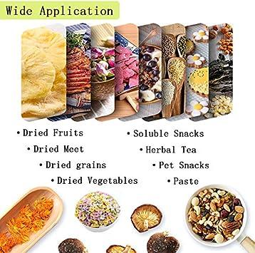 Liangzhou 6 PCS Premium Non Stick Silicone Dehydrator Sheets for Fruit Dryer Reusable Fruit Dehydrator Mats Dim Sum Mesh 14inch
