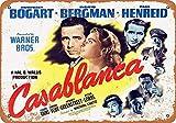 Brandless 1942 Casablanca Movie Jahrgang Blechschild Kunst