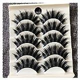 Pestañas postizas 5 Pares Naturales, Gruesas Y Rizadas Desordenadas para Maquillaje Sencillo Maquillaje Desnudo Maquillaje De Novia Pestañas De Ojos