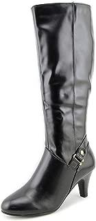 Karen Scott Womens Harloww Almond Toe Knee High Fashion Boots, Black, Size 10.0