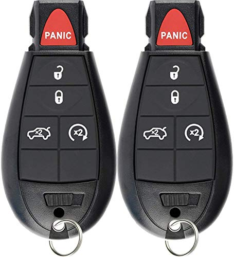 KeylessOption Keyless Entry Remote Smart Key Fob Ignition Alarm for Dodge Dart M3N32297100 (Pack of 2)