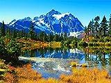 1000 Piezas De Rompecabezas De Papel De Madera para Adultos Niños Educativos Lago Árboles Montañas Juguete Educativo para Niños Y Adultos Montaje De Madera