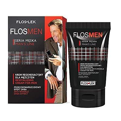 FLOSLEK Revitalizing Anti-Wrinkle Face Cream for Men | 50 ml | Regenerates the Skin, Improves Tension, & Firms | Intended for Men with Dry, Sensitive & Normal Skin by Floslek