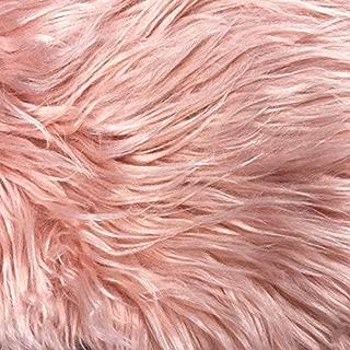 Fake Fur Shaggy Fabric by The Yard (Blush)