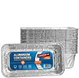 Caterserve Disposable Aluminum Foil Loaf Pans Premium Heavy Duty Bread Pans Favorite Bread tin Size for Homemade Cakes and breads 2 lbs -900 Grams (10 Pack)