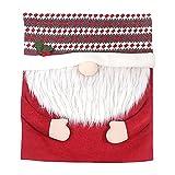 Weihnachten Stuhlhussen Esszimmerstuhl Rücken Bezug Wichtel Zwerg Design Rot Grau Mütze Stuhllehnen Bezug Stuhl Rückenlehne Husse Weihnachten Dekoration Party Zuhause Restaurant Stühle