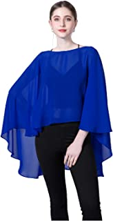 Chiffon Capes Sheer Capelets Bridal Shawls And Wraps Cape Long Plus Size Poncho Cape For Women