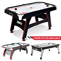 ESPN Sports Air Hockey Game Table: Indoor Arcade Gaming Set with Electronic Score System and Sound Effects - Available in Multiple Styles