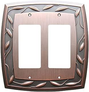 Allen + Roth 2-gang Dark Oil-rubbed Bronze Standard Rocker Metal Wall Plate