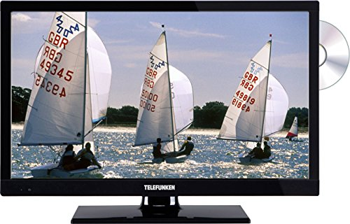 Telefunken LED-TV 56 cm 22 Zoll B22F342B EEK A+ DVB-T2, DVB-C, DVB-S, Full HD, DVD-Player, CI+ Schw