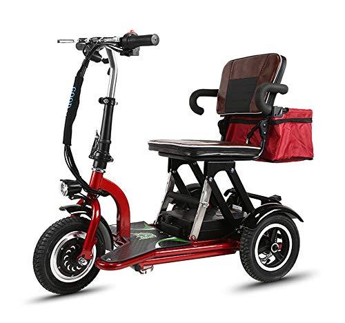 Xljh volwassen oude vouwbare mini beweegbare kleine driewieler elektrische fiets voor vrijetijdsreis ongeschikte elektrische fiets