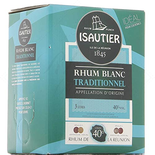 Isautier Blanc Traditionnel 40° - Cubi BIB Bag-In-Box 3 litres