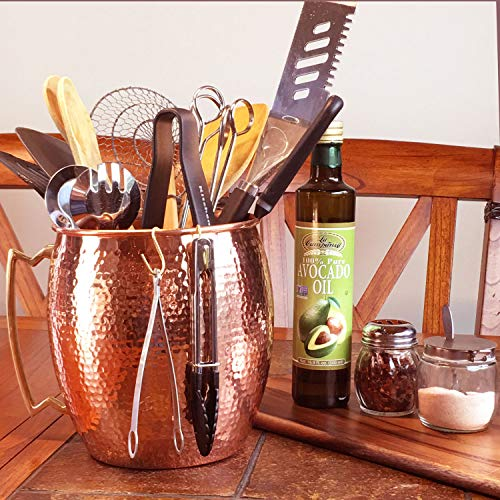 Hammered Copper Kitchen Utensil Holder