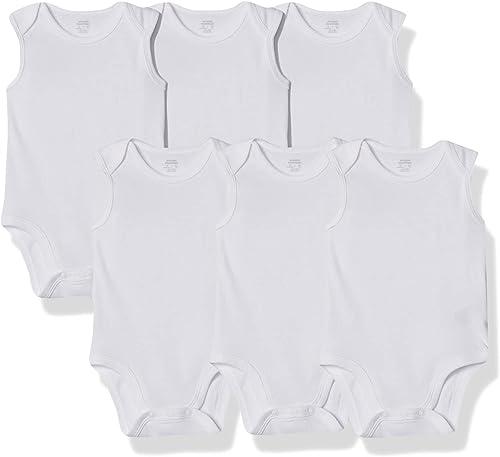 Amazon Essentials 6-Pack Sleeveless Bodysuits Unisex bebé