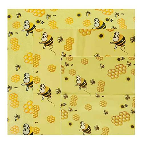 GZQF Paño de Beeswax: 3 piezas, algodón orgánico, cera de abejas natural, respetuosa con el medio ambiente y saludable, reciclable.