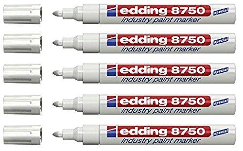 edding Lackmarker edding 8750 industry paint marker, 2-4 mm, weiß (5)