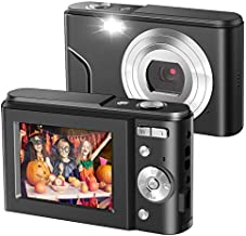 IEBRT Digital Camera,1080P Mini Kid Camera Vlogging Camera Video Camera LCD Screen 16X Digital Zoom 36MP Rechargeable Point and Shoot Camera for Compact Portable Kids Teens Gifts?Black?