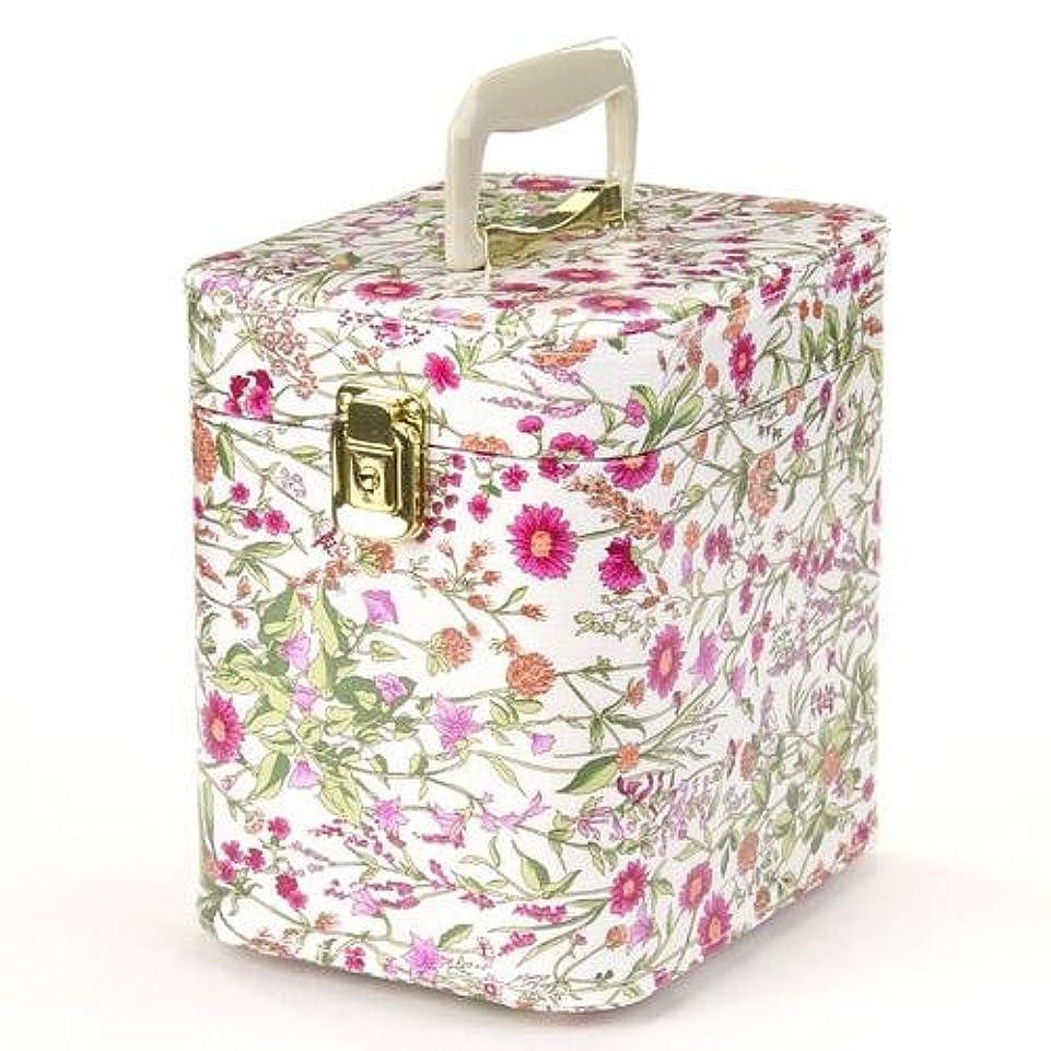 異邦人ミント追跡日本製 メイクボックス トレンケース ハーブガーデン 7寸 ピンク  (鍵付き/コスメボックス)