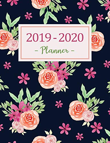 2019-2020 Planner: Daily Weekly Monthly Calendar Planner - 24 Months Jan 2019 - Dec 2020 For Academic Agenda Schedule Organizer Logbook and Journal ... with To To List - Black rose Floral Cover