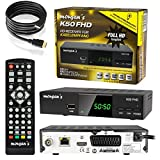 MORGAN`S K50 FHD - Receptor Digital Full HD con función de grabación, PVR Timeshift, Cambio analógico a Digital, (HDTV, DVB-C / C2, HDMI, euroconector, Reproductor Multimedia, USB, 1080p)