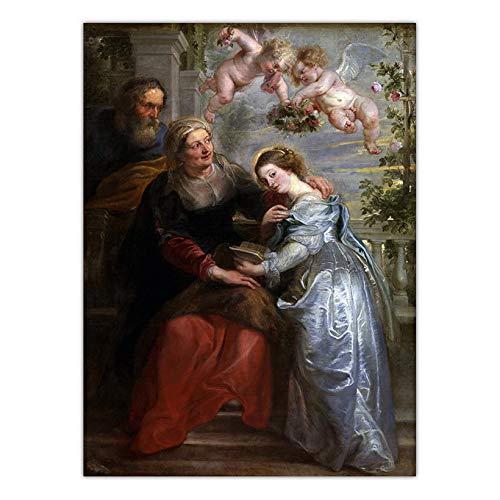 (70x95cm) Geen Frame Print muurschildering graffiti stijl schilderij Religieus Geluk Peter Paul Rubens Beste verjaardagscadeaus voor vrienden