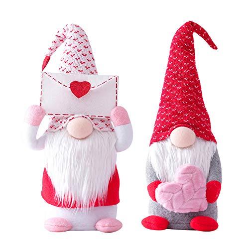 Nette gesichtslose Puppen Valentinstag Dekorationen Schlafzimmer Geschenke für Frauen Männer Geburtstag Hochzeit Jubiläumsfest zum Dekorationen Wohnzimmer Desktop Home Dekorat (multicolor 2PC)