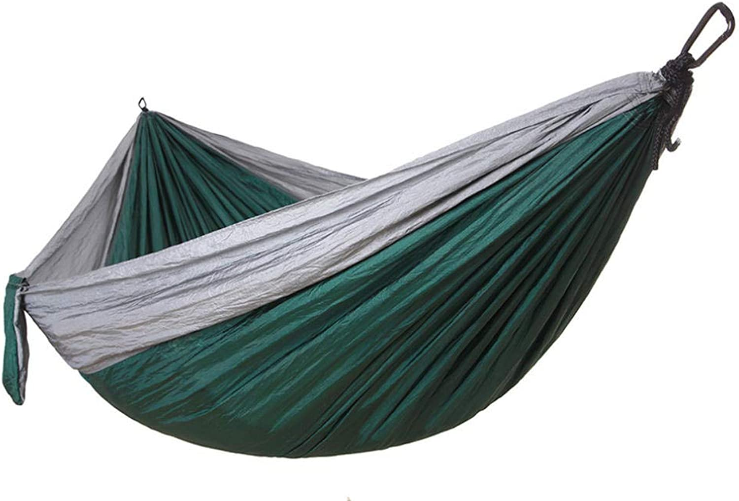 Parachute Cloth Hammock Outdoor Camping Ultra Light Swing with tie Rope Steel Buckle Hook